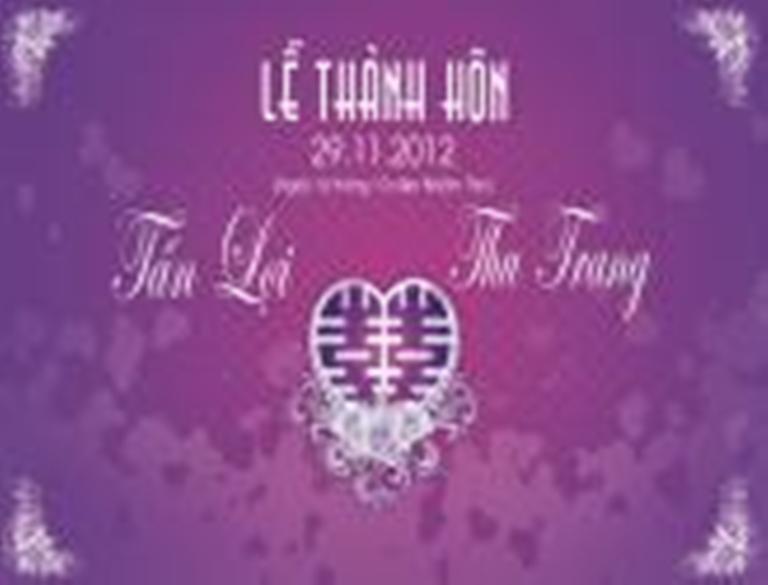 Chuong trinh le thanh hon Tan Loi - Thu Trang ngay 29-11-2012