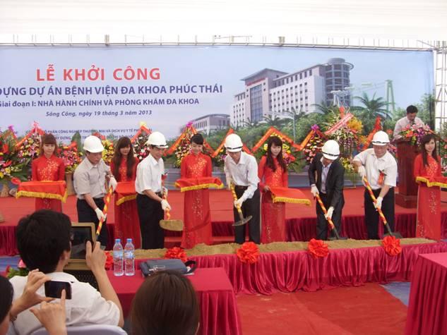 Le Khoi cong Benh vien Da khoa Phuc Thai - Thai Nguyen