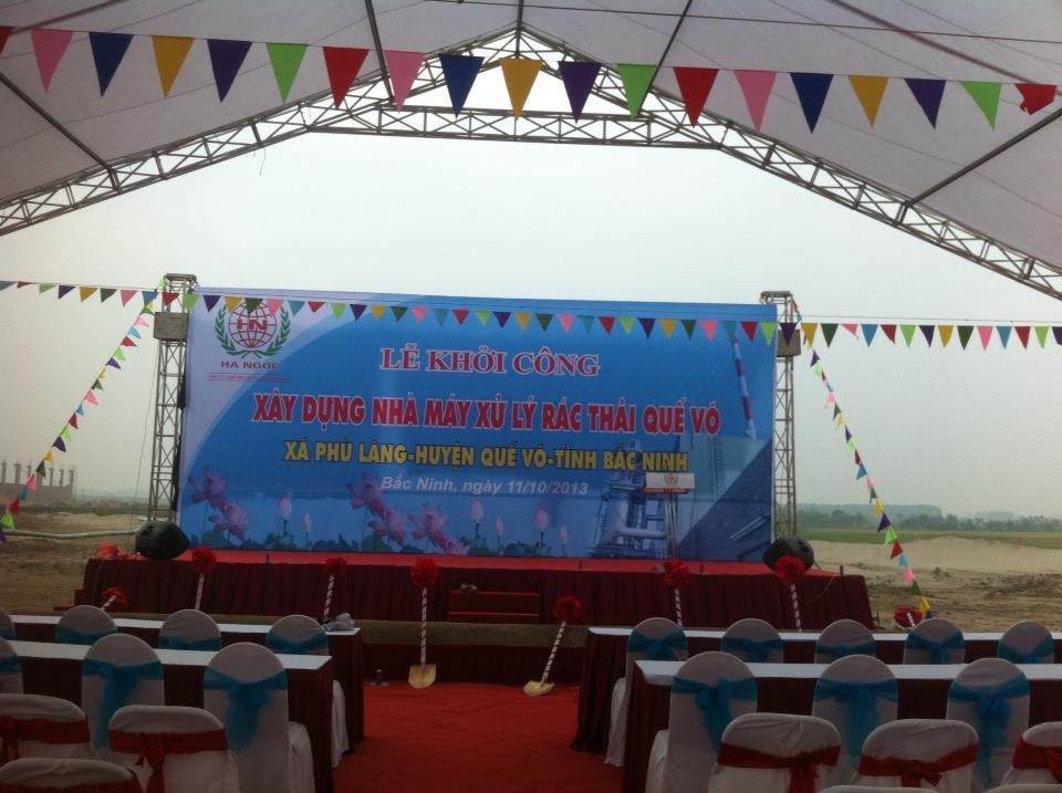 Le Khoi cong xay dung nha may xu ly rac thai Phu Lang