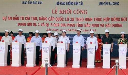 Khoi cong du an cai tao nang cap Quoc lo 38