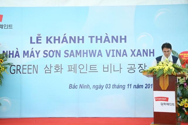 To chuc le khanh thanh nha may son SAMHWA VINA XANH