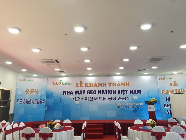 Le khanh thanh Nha may GEO NATION Viet Nam